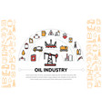 oil industry composition vector image vector image