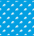 origami elephant pattern seamless blue vector image vector image