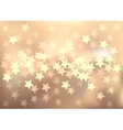 Pastel festive lights in star shape background vector image vector image