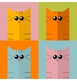 pop art stylization colorful cats vector image vector image