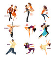 professional dancer people dancing young man and vector image