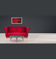 red couch sofa modern dwelling interior design vector image vector image
