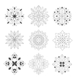 Regular Shape Doodle Ornamental Figures In vector image vector image