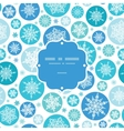 Round Snowflakes Frame Seamless Pattern Background vector image vector image