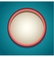 Round stylized frame vector image vector image