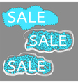 sale set of three cloud tags vector image vector image
