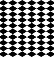 Seamless harlequin pattern-black and white vector image vector image
