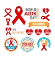 Set of AIDS badges collection Stop AIDS vector image