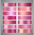 set of rose gold or shiny pink gradient banners vector image vector image