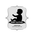 signboard or logo of baby clothes vector image vector image