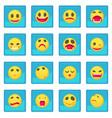 smile icon blue app vector image vector image