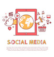 social media poster and text vector image vector image