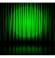 Spotlight on green stage curtain vector image vector image