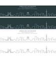 tehran single line skyline banner vector image vector image