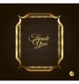 Thank you Golden frame Vintage gold background vector image vector image