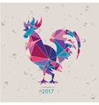 The 2017 new year card with Rooster vector image vector image