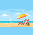 tropical island sea shore vector image vector image
