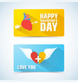 two valentines banner set vector image