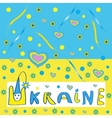 Ukrainian flag with a picture vector image