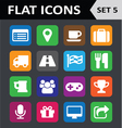 Universal Colorful Flat Icons Set 5 vector image vector image