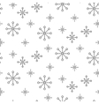 Vintage snowflake simple seamless pattern vector image
