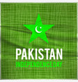 water color creative pakistani day star pak vector image