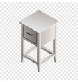 white night stand icon isometric style vector image vector image