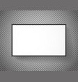 white paper picture frame on transparent vector image vector image