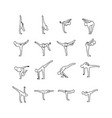 yoga poses outline sketch vector image vector image