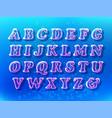 air bubble font vector image