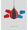 Punch bag and gloves Equipment for boxing Exercise vector image