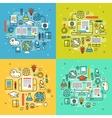Web online education outline vector image