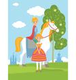 Fairy Prince and Princess vector image