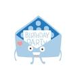 Invitation Mail Envelop Children Birthday Party vector image