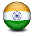 A soccer ball with the Indian flag vector image vector image