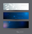 abstract banners set of molecule structure vector image vector image
