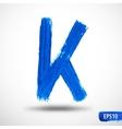 Alphabet Letter K Watercolor Alphabet vector image vector image