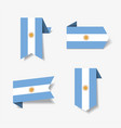 argentinean flag stickers and labels vector image vector image