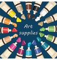 Art supplies for school vector image vector image