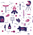 bbq grill meat barbecue restaurant party at home vector image vector image