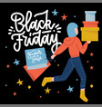 black friday flyer poster template with happy vector image vector image