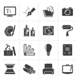 Black Graphic and website design icons vector image vector image
