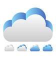 blue 3d cloud icon icon for tech technology or vector image