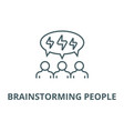 brainstorming people line icon vector image