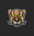 cheetah logo design template head icon vector image