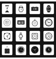 Clock icons set in simple style vector image vector image