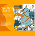 concept of new year party vector image