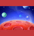 cosmic space landscape planets surface craters vector image vector image