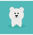 Cute Cartoon Polar Bear vector image