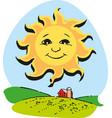 cute cartoon sun eps 10 vector image vector image